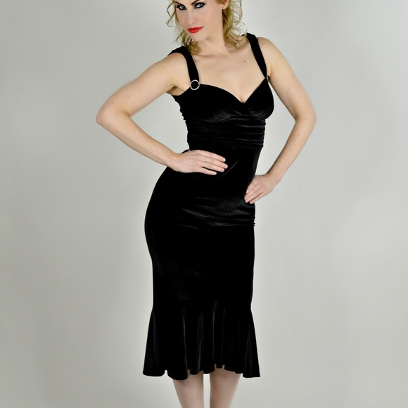 d1424f928e94 Stop Staring Dresses | Black Velvet Mermaid Pinup Dress | Poshmark